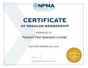 NPMA - Membership Certificate_ 2015-2016